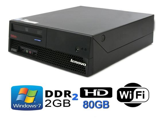 Cpu Lenovo Thinkcentre Dual Core 2gb Ddr2 80gb Dvd Wifi