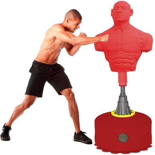 Bolsa De Boxeo C/ Base Torso Humano De Goma Maciza - El Rey
