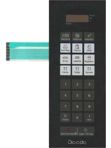 Imagem 1 de 3 de Teclado De Membrana Microondas Panasonic Nn St27jw Espelhado