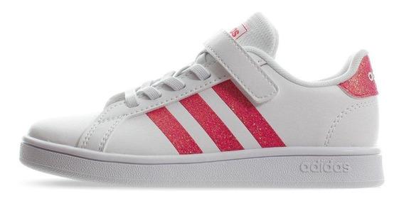 Tenis adidas Grand Court C - Eg3811 - Blanco - Niñas