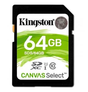 Tarjeta de memoria Kingston SDS Canvas Select 64GB