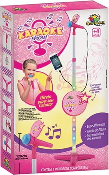 Instrumento Musical Pedestal C/microfone Karaoke Un