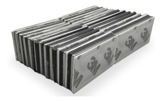 Imanes De Neodimio 20x10x3mm Potentes Niquelados Adhesivo 3m