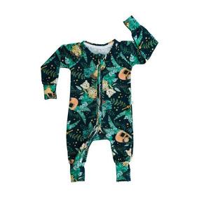 Macacão Longo Biobaby Bebê Animais Aquarelados
