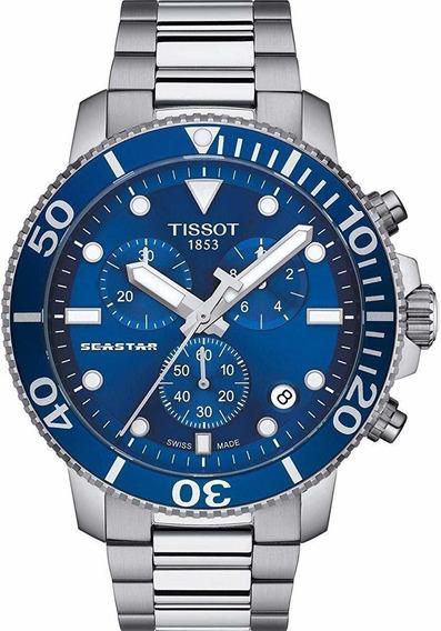 Relógio Tissot Seastar 1000 Chronograph Quartz Azul