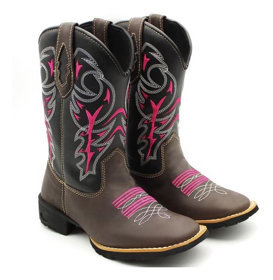 Bota Texana Feminina Moda Country Lançamento Promoção