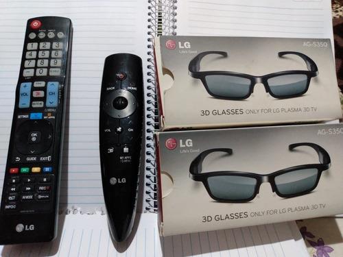 Kit 2 Óculos 3d LG Ag-s350 + 2 Controle Remoto