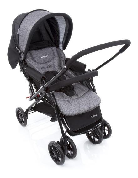 Carrinho De Bebê Status - Voyage Preto