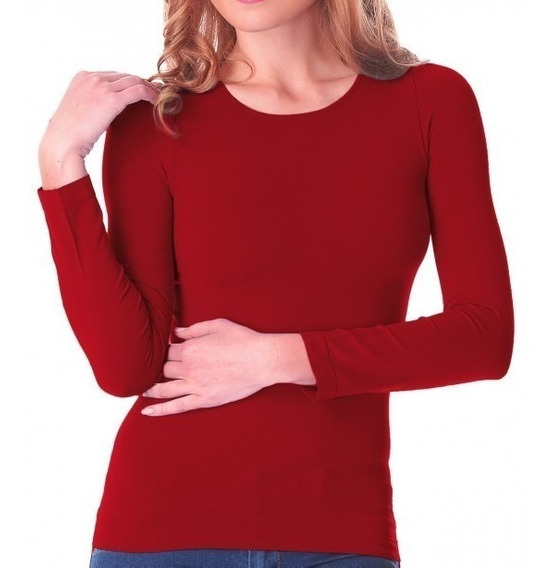 Blusa Termica Cuello Redondo Afelpada