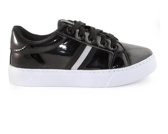 Zapatillas Citadina Vitania Charol Moda Sneaker Plataforma
