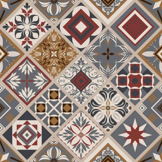 Papel De Parede Decoração De Interiores Artesanato Plastico Adesivo Azulejos Istambul Rolo 45cm X 10m Contact Plastcover