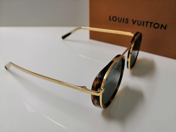 Óculos De Sol Louis Vuitton Z2340u Dourado E Verde