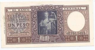 Billete 1 Peso Moneda Nacional De 1956 Muy Bueno