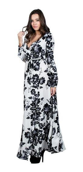 Maxi Vestido Ark & Co. Con Estampado Floral En Negro