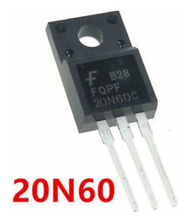 Pack De 6 Transistor Mosfet Fqpf20n60 20n60 Canal N 600v 20a