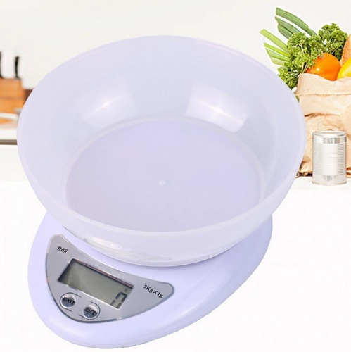Balanza Pesa Digital De Cocina Hasta 1g-5kg Alta Precisión
