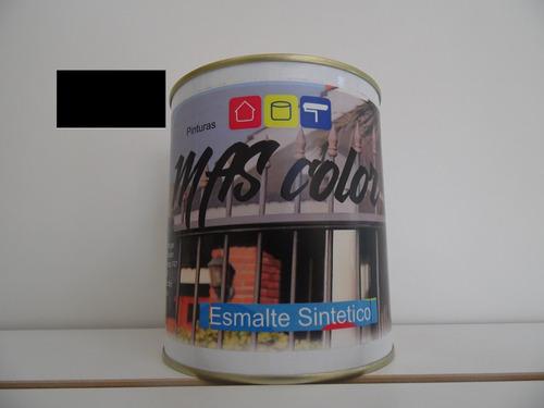 Pintura Esmalte Sintetico Interior Negro Mate 0.9 Lt
