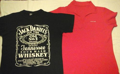 2x1 Remera Admit One Tipo Chomba + Otra Jack Daniels Talle 4