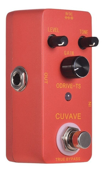 Pedal Overdrive Ts - Tube Screamer Ts808 Cuvave True Bypass