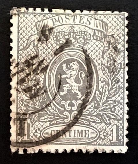 Bélgica, Sello Yv 23 Escudo 1c Dent 14x15 1866 Usado L12653