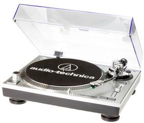Toca Disco Audio Technica Lp120 Usb Bivolt Prata At-lp120usb