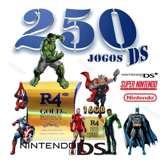 Cartucho 250 Games Dsi P/ Ds Lite Xl 3ds 2ds New 2ds 3ds Xl