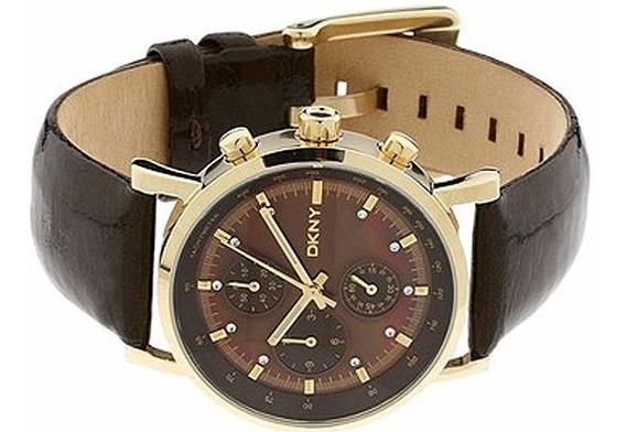 Relógio Luxuoso Dkny Donna Karan Ny 4330 Banho Ouro Amarelo