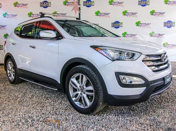 Hyundai Santa Fe Sport 2014 Blanca Recien Importada Clean