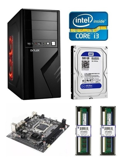 Cpu Computadora Intel Core I3-3220 8gb De Ram 500gb Disco