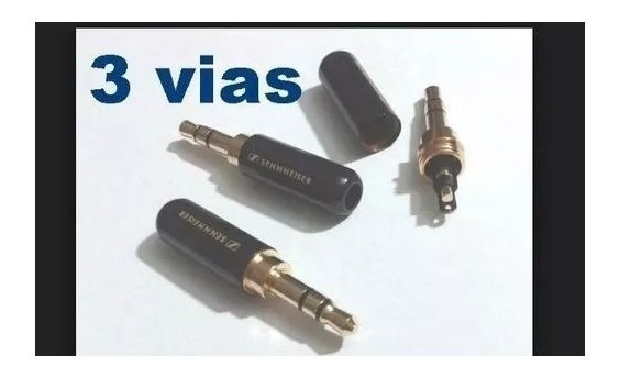 Plug P2 3,5mm 3 Polos - Audio - Fone Ou Microfone