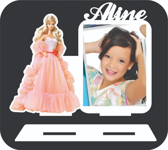10 Barbie Porta Retratos Lembrancinha C Nome Branco