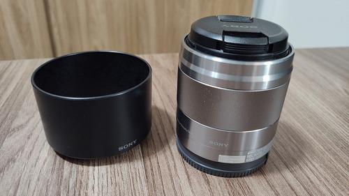 Lente Sony E-mount 50mm F/1.8 Oss Aps-c (sel50f18) Prata