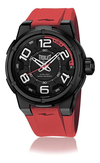 Relógio Masculino Everlast E691 48mm Silicone Laranja