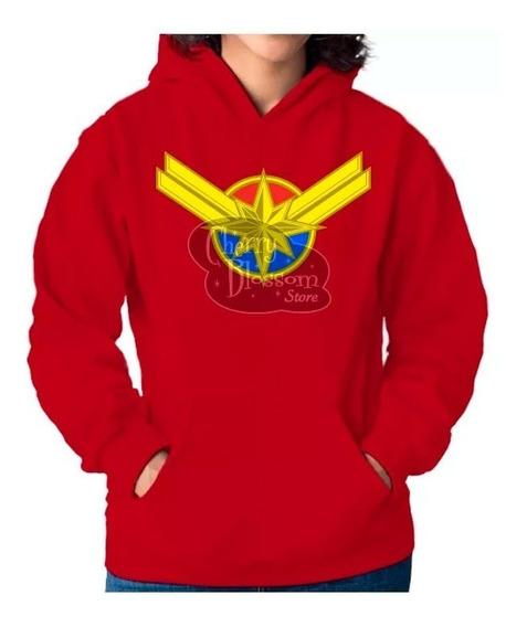 Sudadera Captain Marvel Capitana Avengers Endgame Danvers Afelpada Adulto Niño Familia Mas Modelos Regalo