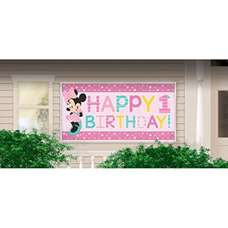 1st Birthday Minnie Mouse Banner Party Supplies Minnie Fun T