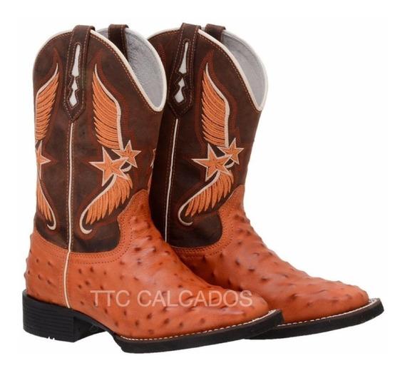 Bota Texana Masculina Bordada Marconi Lancamentos 2019