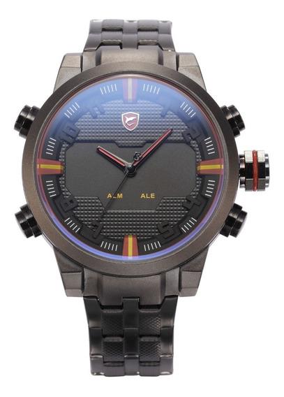 Relógio Shark Aço Sh197, Led