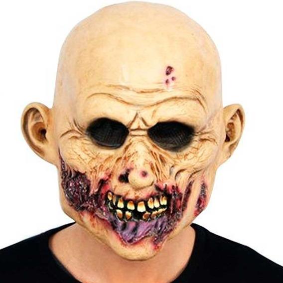 Máscara De Látex Zombie Caminante Disfraz Halloween Upd