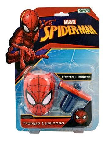 Trompo Luminoso Spiderman Original Ditoys Full