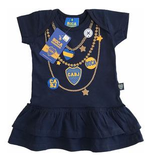 Vestido De Beba Nena Boca Juniors Oficial