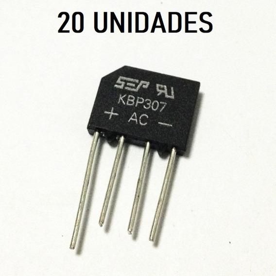 20 Unid Ponte Retificadora Kbp307 Kbp 307 3a 700 V Original