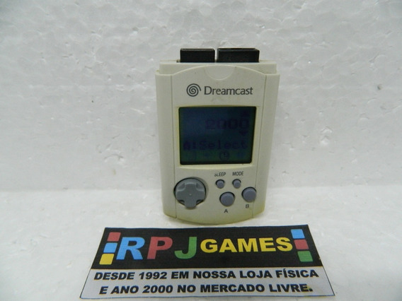 Vmu Memory Card Original Branco P/ Dreamcast - Loja Rj