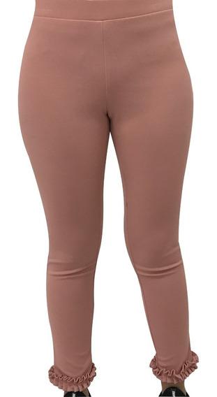 Pantalón Tipo Leggings Con Detalle En Talón Moda Mujer Sexy