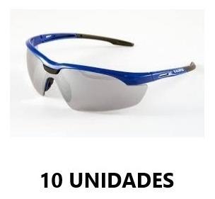 Kit C/ 10 Oculos Veneza Azul Espelhado Kalipso Epi