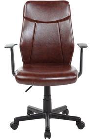 Cadeira Giratória Presidente Ajuste De Altura Estofada