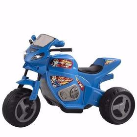 Triciclo Elétrico Infantil 6v Moto Max Turbo Azul Magic Toys