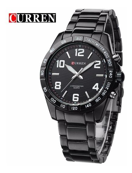 Relógio Masculino Curren Casual 8107 Preto