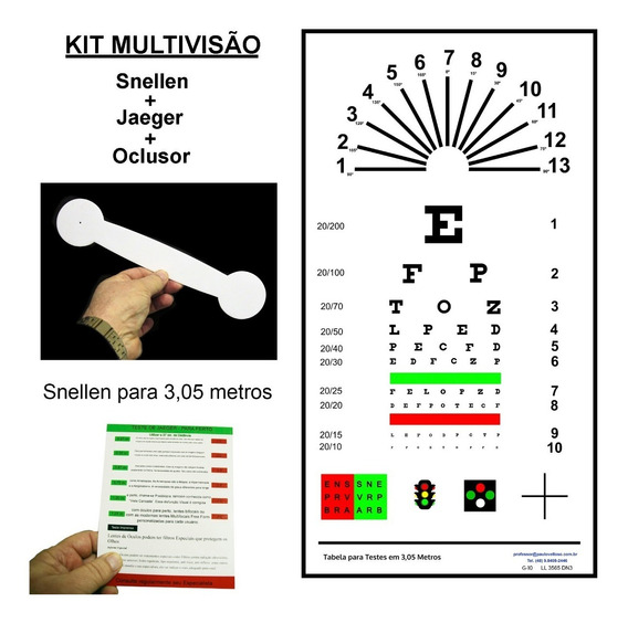 Kit Multivisão - Tabelas De Optotipos - 6 Jogos De Kits