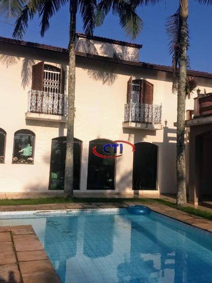 Sobrado Com 4 Dormitórios Para Alugar, 500 M² Por R$ 4.500/mês - Jardim Pastoril - Ribeirão Pires/sp - So0543