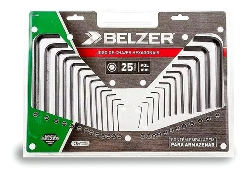 Imagem 1 de 5 de Jogo De Chave Belzer Allen Com 25 Peças